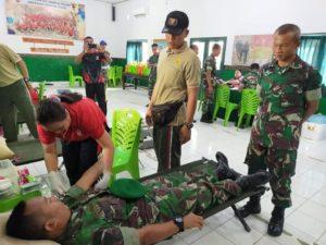 Prajurit Brigif 21 / Komodo Sumbang 58 Kantung Darah