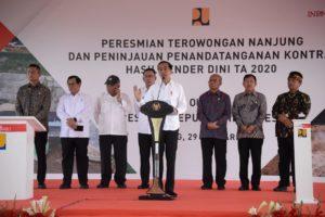 Presiden Apresiasi Penandatanganan 1.300 Lebih Proyek Infrastruktur 2020